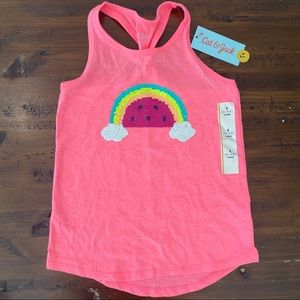 Rainbow Flip Sequence Tank NWT Girls Size Small/6